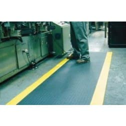 Safety Striped Tuff-Spun Anti-Fatigue Matting
