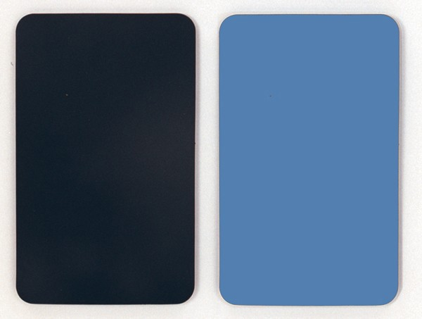 Smooth Vinyl Switchboard Matting -Black, Blue
