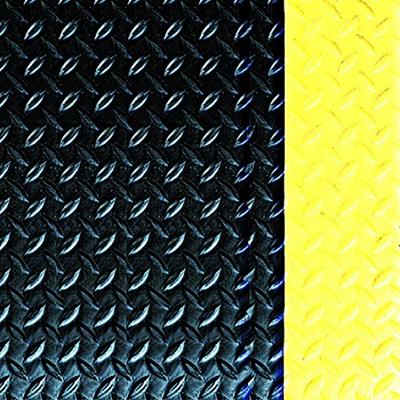 Workers Delight Diamond Deck Plate Anti-Fatigue Mat -Black/Yellow