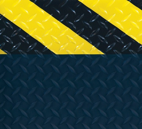 Diamond Deck Plate Anti-Fatigue Mat with Colored Borders -Safety Aware Border