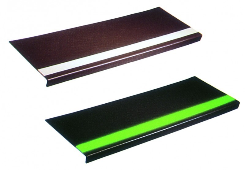 Lo-Disc Design Rubber Stair Treads -Photoluminescent Strip