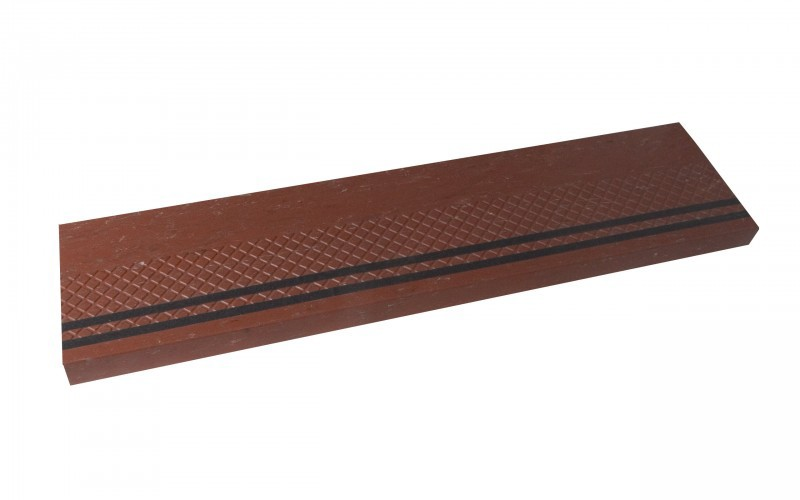 Diamond Design Rubber Stair Treads -Black Safety Strips