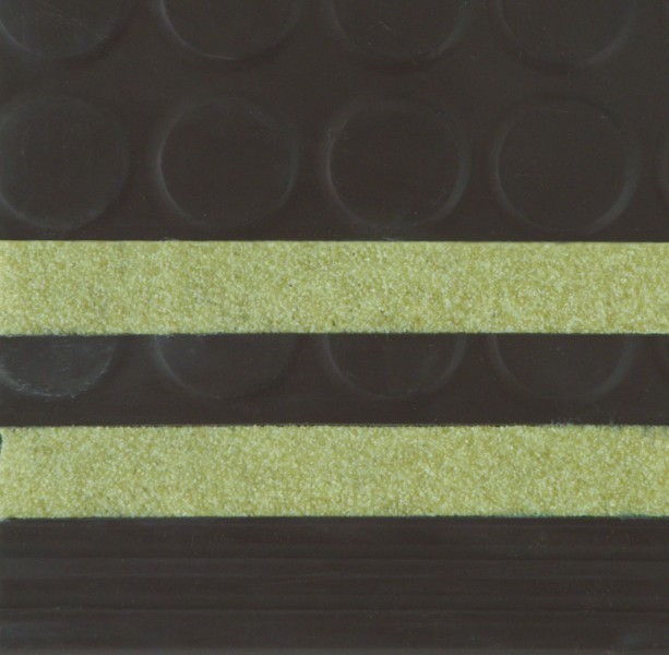 Diamond Design Rubber Stair Treads -Yellow Safety Strips