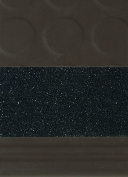 Diamond Design Rubber Stair Treads -Black Safety Strip