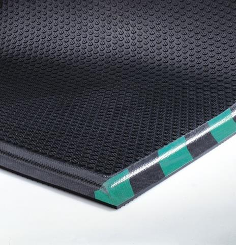 Happy Feet Anti-Fatigue Mats -Green Border- Grip Surface