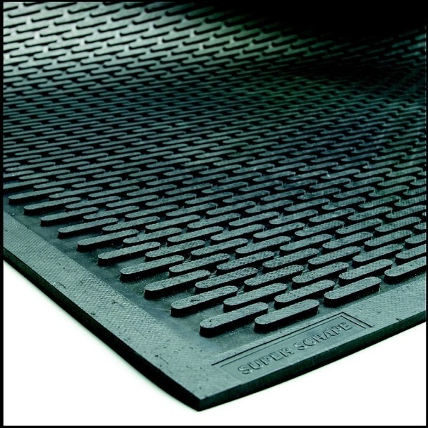 Super Scrape Rubber Mats -Oblong Pattern