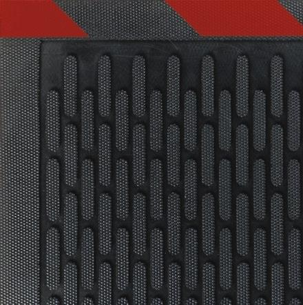 Safety Scrape Rubber Mats -Red Borders
