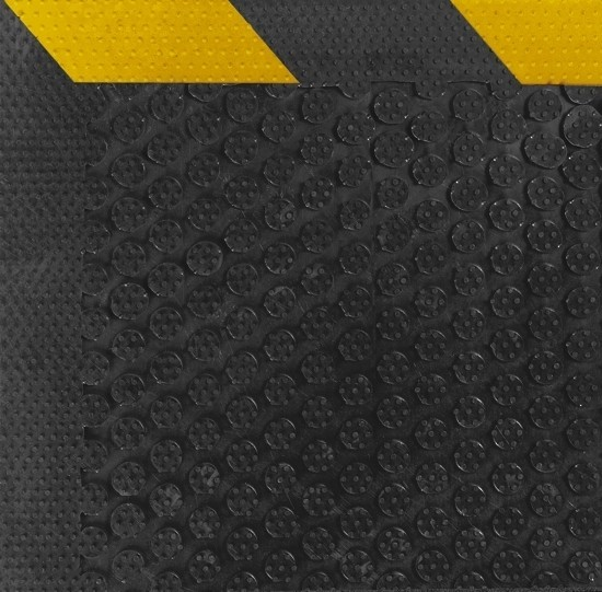 Safety Scrape Rubber Mats -Yellow Borders