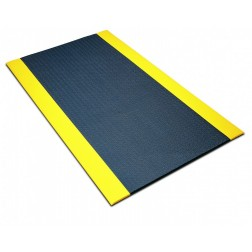 Safety-Striped Comfort King Anti-Fatigue Matting -Black/Yellow
