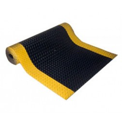 Safety Striped Diamond Plate Vinyl Matting