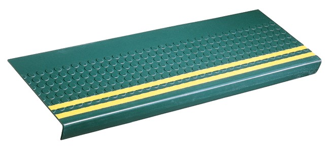 Disco-O-Tread Rubber Stair Treads  -Yellow Safety Strips