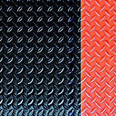 Diamond Deck Plate Anti-Fatigue Mat with Colored Borders -Orange Border