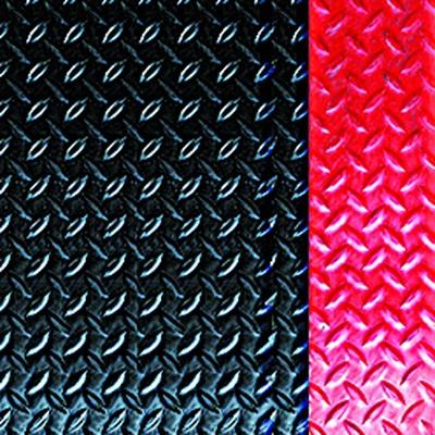 Diamond Deck Plate Anti-Fatigue Mat with Colored Borders -Red Border