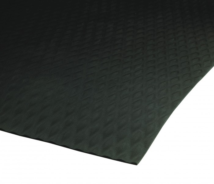 Traction Tread Rubber Runner Mats -Black