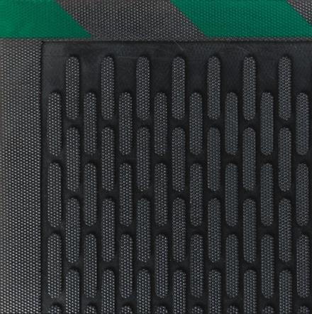 Safety Scrape Rubber Mats -Green Borders