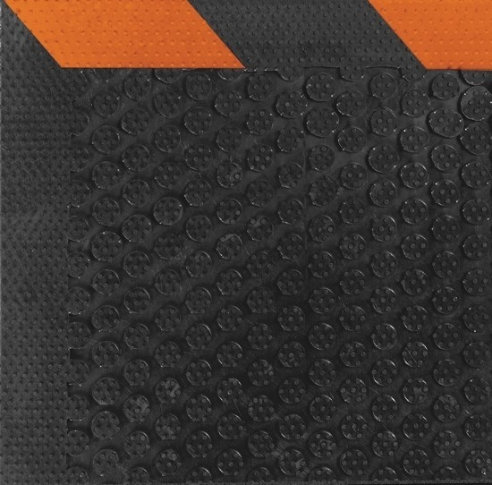 Safety Scrape Rubber Mats -Orange Borders
