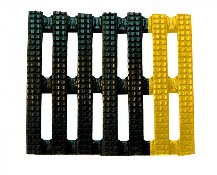 Vynagrip Vinyl Duckboard Matting -Black/Yellow