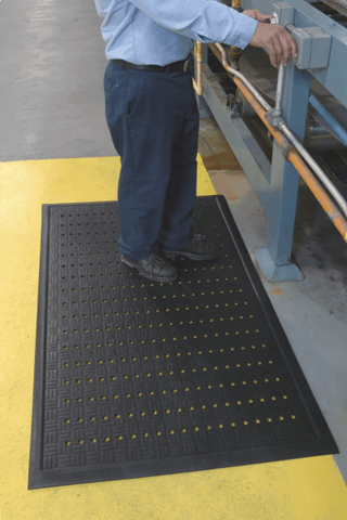 Cushion Station Anti-Fatigue Mats -w/Holes