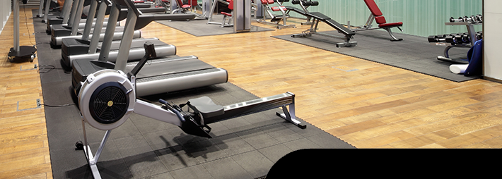 Tile Lock Rubber Tiles in Fitness Center
