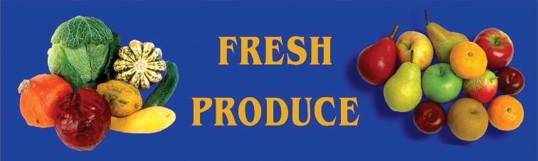 Message / Slogan Mats -#790 Fresh Produce