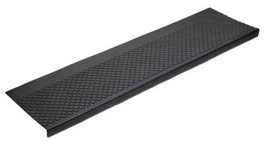 Outdoor Recycled Rubber Stair Tread -Black