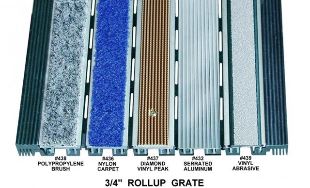 Perfec Clean Rollup Grate Rubber Hinge AntiSlip Matting - Rubber grate flooring